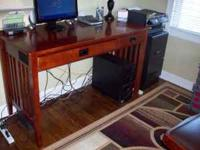 Small office desk. Some ware but very sturdy and an