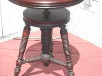 THIS GREAT ANTIQUE PIANO STOOL IS IN EXCELLENT