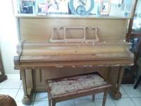 Upright piano good shape recently tuned $250 call Peter