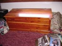Size is 45 x 20 x 19 high.This is real cedar, This has