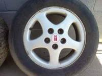 This is a set of 16 inch wheels with tires all are in