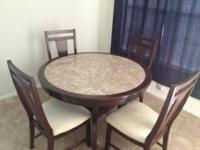Excellent oak and marble dining room table. Orginal