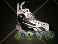 Up for sale is a pair of Reebok 9K Roller Hockey
