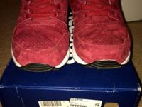 REEBOK VENTILATORS PERF MAROON SNEAKERS, SHOES LIKE NEW