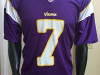 Like New Reebox NFL Minnesota Vikings # 7 Ponder Jersey
