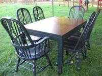 This Dining Table and chairs have just been refinished.
