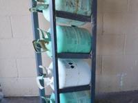 Refrigerant / Freon TANK SHELF. Deliver 4 - 30 lbs.