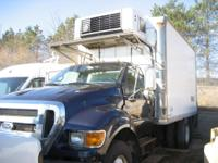 14 foot  refrigerated truck body, swing rear