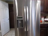 Beautiful LG double door stainless steel Refrigerator