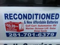 Golf Cart Reconditioned Batteries Starting at $59.99