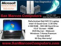Reconditioned Dell N5110 Laptop. Processor: Intel Core