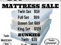 Refurbished Mattress SALE! Twin $35/Set $59. Full Set