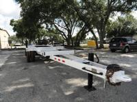 Refurbished Reid Single Axle 27ft Pole Trailer - 09591