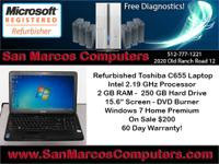 Reconditioned Toshiba C655 Laptop computer Processor: