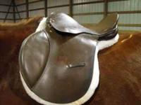 Great quality leather all purpose English saddle, FQHB