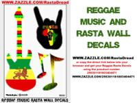 Reggae Music Rasta Musical Wall Decals 12 in by 18 in.