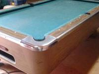 Regulation Size Pool Table (coin operated) it came out