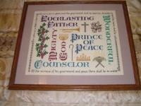 For sale is a beautiful religious crossstitch in a