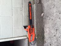 "Here is a Remington 16"" electric chainsaw. Its 2.5 HP,"