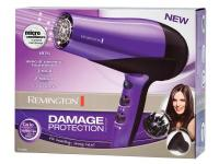 This purple hair dryer has 1875 watts, 3 heat settings,