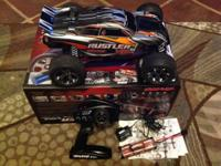 This is Traxxas Rustler VXL Brushless 1/10 Scale