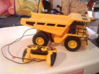 This is a remote controlled caterpillar dump truck.