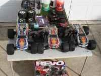 set of 3 traxxas revo model 5310 gas remote4x4 trucks