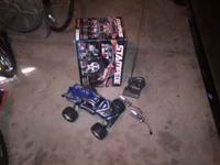 Stampede Traxxas remote control car lots of addons like