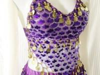 Renaissance Gorgeous Purple 2 Piece Belly Dancer