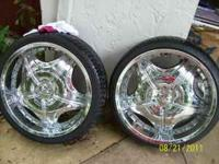 "I Have (4 - Rennen 22"" inch Tires and rims for sale,"