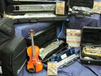 We have new and secondhand school band instruments. Al
