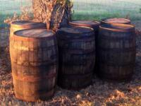 Whiskey Barrels (quantity of six) which rent for $40.00