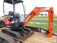 2010 Kubota KX41 Mini Excavator, 700 Hours, $17,000,