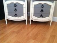 This Antique Vintage Set French Provincial Nightstands