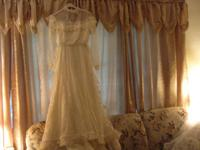 This replica bridal gown was used by Lucy Ewing in the