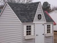 8x8 Amish Built Victorian Playhouse  Vinyl Siding