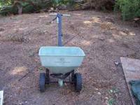 Residential broadcast spreader.Only Used Once! Get