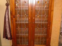 Beautiful former gun cabinet that has been transformed