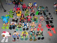 Original Rescue Heroes action figures, vehicles, and