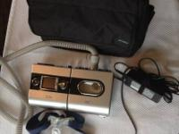This is a lightly used Resmed CPAP machine. It has 458