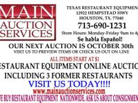Our next upcoming Auction is on October 30th.  All