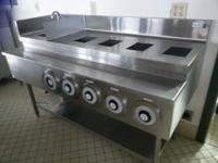 "30""3 zone Adcraft level top grill. $600. Large output,"