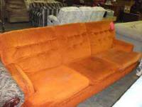 Restore has a Sofa for Sale: $59.99, orange fabric,