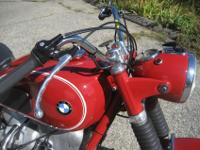 BEAUTIFULLY RESTORED 1969 R60US IN GRENADA RED. THE