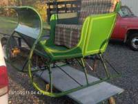 "Totally Restored ""Antique Portland Cutter Sleigh"" with"