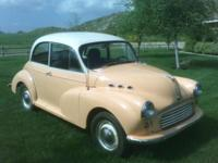 BEAUTIFUL CLASSIC 1957 MORRIS 1000 2 DR SALOON,