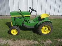 JD. 110 round fender, $1000. Cub Cadet Original-SOLD