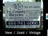 Restored Pre Owned Bicycles with a 60 Day Warranty.