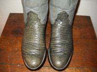 Alligator belly boots by Nacona vintage 1980's in