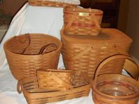 $200 cash & carry only! Collection of 7 Longaberger